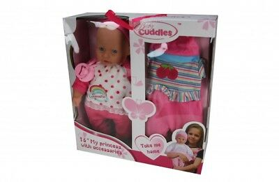 16 Inch Soft Bodied Baby Doll With Extra Outfit & Dummy [Ages 3+] *BRAND NEW*