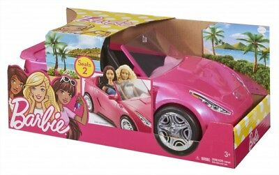 Barbie Glam 2 Seater Convertible Car Doll Vehicle In Sparkle Pink