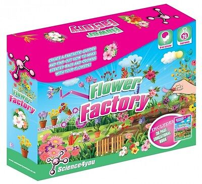 Science4you Flower Factory Science Kit [Ages 8+] Includes 36 Page Booklet