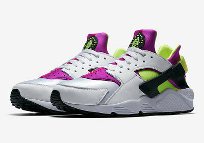 3e0bed2658661 NIKE AIR HUARACHE Run 91 QS   AH8049 101 Magenta Neon OG Men SZ 7.5 ...