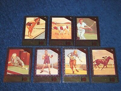 1995 Coca Cola Series 4 Sports Favorites Dyna Etch Foil Insert Chase Set (E6)
