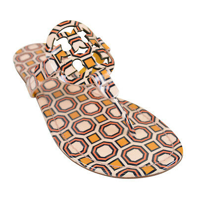 c906e2384 Tory Burch Women s Miller Leather Thong Sandals PRINTED BALLET PINK OCTAGON