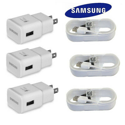 OEM Original Samsung Galaxy S7 S7-Edge Active Adaptive Fast Wall Charger 5ft Lot