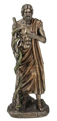 "11.25"" Asclepius Greek God of Medicine Statue Sculpture Figure Figurine"