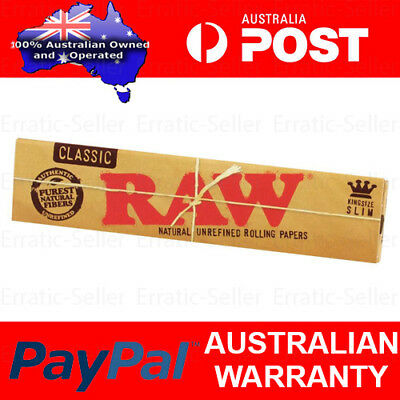Raw Classic King Size Slim Natural Rolling Papers Smoking Paper Smoke Spliff