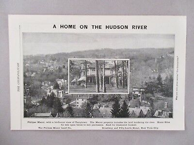 Philipse Manor Land Co. PRINT AD - 1903 ~~ Tarrytown, NY, Hudson River