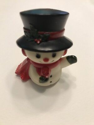 Hallmark Merry Miniatures Frosty Snowman Holding Robin Red Bird