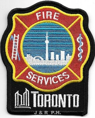 "*USED*  Toronto, Ontario, Canada  new style (3.5"" x 4"" size) fire patch"
