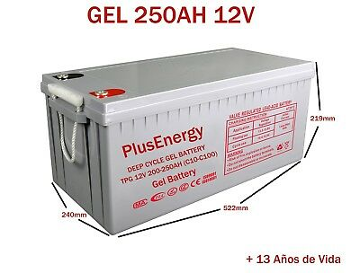 Drums Gel 12V Plusenergy TPG250 200AH-250AH C10-C100 Discharge Deep
