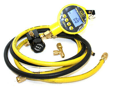 HVAC Single Digital Manifolds Refrigeration AC Vacuum Gauge Meter Hoses Kit