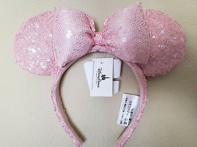 Disney Parks Millennial Pink Minnie Mouse Ears Sequined Headband