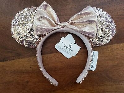 Disney Parks ROSE GOLD Minnie Mouse Ears Headband- NWT
