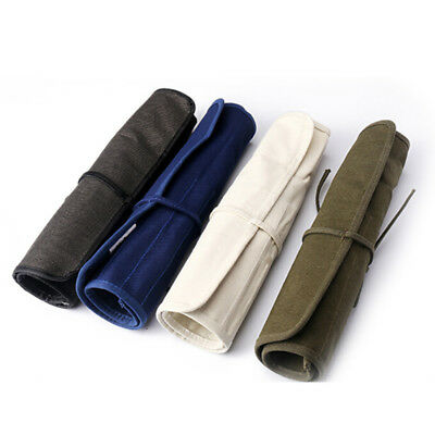 multifunction pencil bag roll up canvas wrap pouch holder case pouch storageSTDE