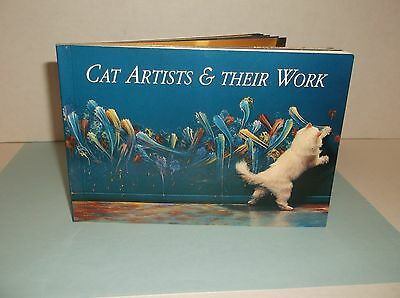 Lot 22~Cat Post Cards~Unused~Cat Artists Their Work Book~1994~Kitty Paw Painting