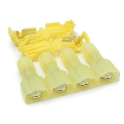 40x Quick Splice Scotch Lock Wire Terminal Connector Electrical Crimp Cable Snap