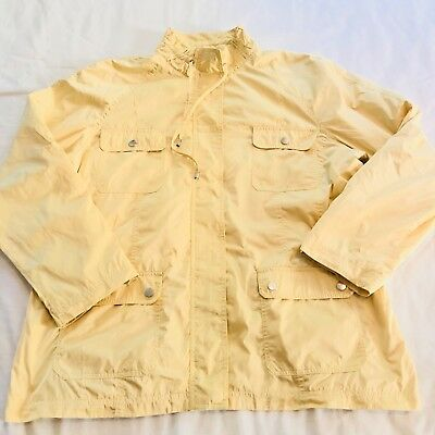 d1181728d0bfd Zenergy By Chicos Womens 3 XL Solid Yellow Full Zip Windbreaker Jacket  Mustard