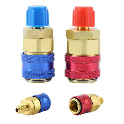 AC Air Condition R134A Quick Coupler Adapter Car HVAC Manifold Connector Copper