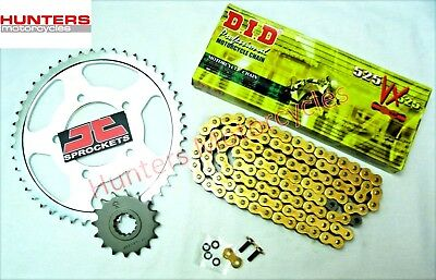 Triumph 865 Bonneville T100 Heavy Duty DID Gold X-Ring Chain & JT Sprockets Kit