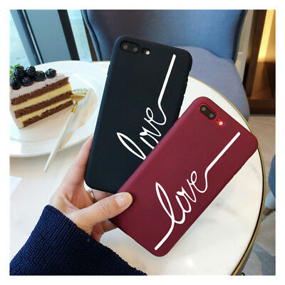 Luxury Matte Love Soft Silicone Rubber TPU Case Cover For iPhone X 8 7 6s Plus 6