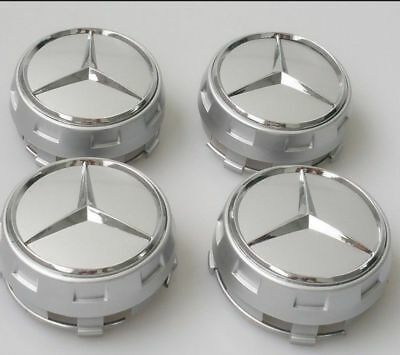 Oem Mercedes Amg Alloy Wheel Hub Centre Caps - Grey 75Mm A B C E S Ml Class