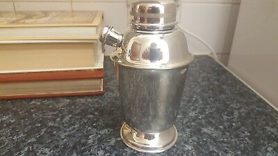 "Art Deco Silver Plated Cocktail Shaker Reg ""plato"""