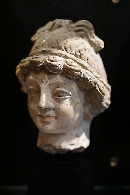 Lovely Authentic 4-5th Century A.D. Gandhara Stucco Bodhisattva Head
