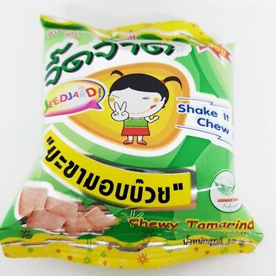 Tamarind Thai fruit chewy candy plum flavor sweet & sour delicious 12g :travel