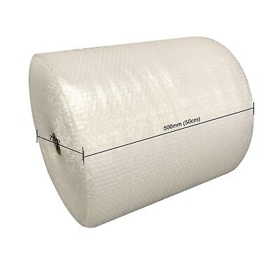 QUALITY SMALL BUBBLE WRAP ROLL 500mm WIDE x 75 METRES LONG PACKAGING CUSHIONING