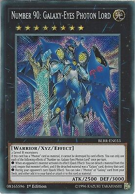 Yu-Gi-Oh: NUMBER 90: GALAXY-EYES PHOTON LORD - BLRR-EN033 - 1st Ed - Secret Rare