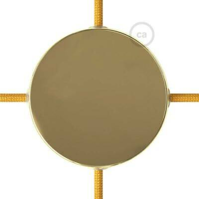 Brass metal 120 mm ceiling rose kit with 4 side holes, accessories included