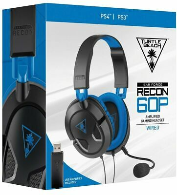 Turtle Beach Recon 60P Cuffie Wired Gioco Xbox One Ps4 Mac Pc Stereo Microfono