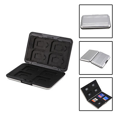 Micro SD Alloy Storage Case for TF SD SDHC TF MS Memory Card Box - Silver