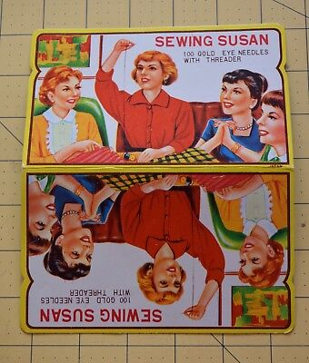 6506 Vintage Paper needle book, Sewing Susan, nearly complete