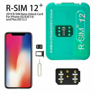 US RSIM 12+ Unlock Sim Card for iPhone X 10 8 7 6s 6 Plus 5s SE 5 iOS 11.4 LTE R