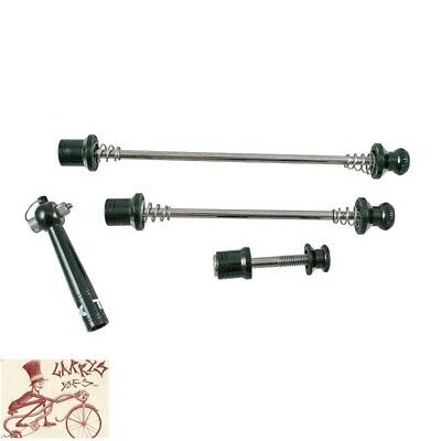 Evo Anti-Theft Quick Release Skewer Set--Front-Rear Wheel-Seat Clamp