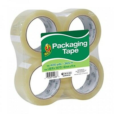 Duck Brand Standard Packaging Tape, 1.88 Inches. x 100 Yards, Clear, Pack of 4