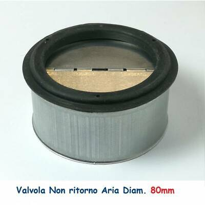 Non-return air valve d. 80 for flexible and rigid pipes hot and cold air