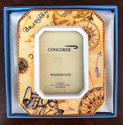 British Airways Concorde Picture Frame Wedgwood Atlas With Box