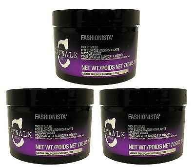 TIGI - Catwalk Fashionista Violet Mask for Blondes 7 oz (Pack of 3)