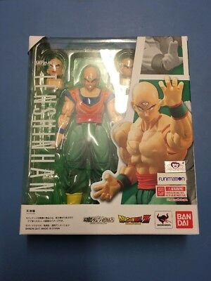 S.H. Figuarts Dragonball Z Tien Shinhan Action Figure Bandai open box, swapped