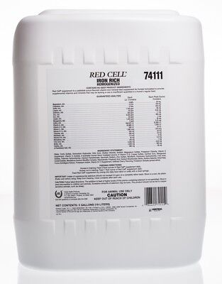 Red Cell, Iron Rich Supplement, 5 gal