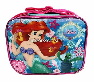 """Disney Little Mermaid Ariel  8"""" Insulated Lunch Box Bag for kids A12156"""