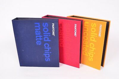 Pantone Solid Chips 3 Three-Book Set: Coated, Uncoated, Matte PANTONE Ring Books