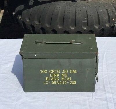 US Military Surplus 50 CAL M2A1 Steel Ammo Can 12x6.5x7.5 Airtight FREE SHIPPING