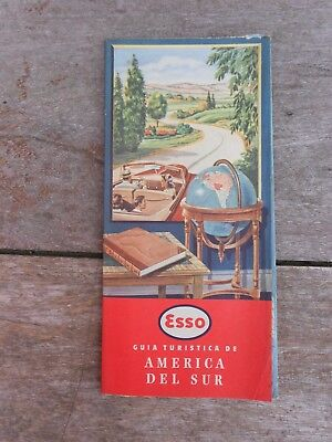 vintage Uruguay ESSO route map SOUTH AMERICA Numbered #325 First issue