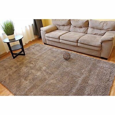 Large Shaggy Contemporary Solid Shag Rug 5 X7 Polyester Area Rug