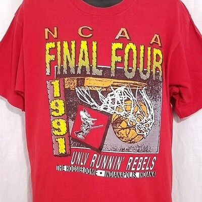 UNLV Runnin Rebels Mens T Shirt Vintage 1991 Final Four Las Vegas Made In USA XL