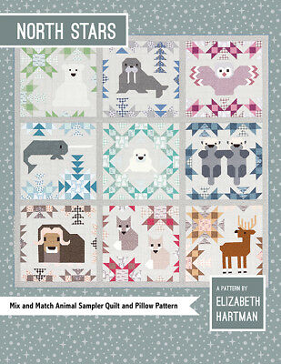 Quilt Pattern ~ NORTH STARS ~ by Elizabeth Hartman - Animal Sampler Quilt