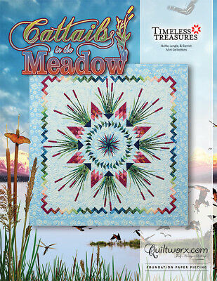 Quilt Pattern ~ CATTAILS IN THE MEADOW ~ Judy Niemeyer Foundation Paper Piecing