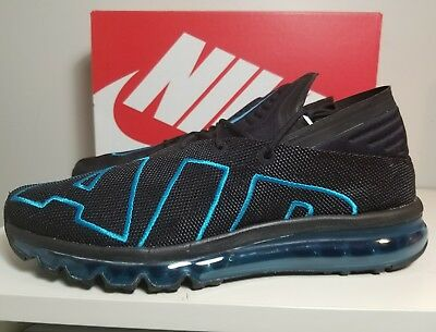 Nike Air Max Flair Mens 942236-010 Black Neo Turquoise Running Shoes Size 12 dfb91888f